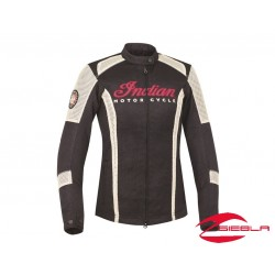 CHAQUETA MUJER PERFORADA - NEGRA BY INDIAN MOTORCYCLE®