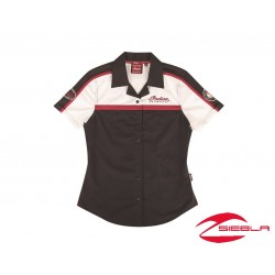 WOMEN'S BLACK/RED/ANTIQUE WHITE COLOR BLOCK SHIRT BY INDIAN MOTORCYCLE®