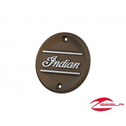 Bronze Indian Script Primary Engine Badge by Indian Scout Motorcycle