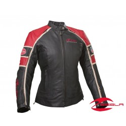 Ladies Retro Jacket - Black/Red Leather by Indian Motorcycle
