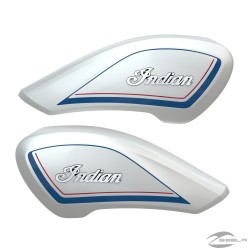 TANK COVERS - GLOSS PEARL WHITE