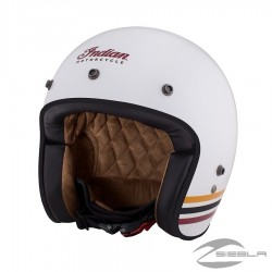 Two Tone Retro Open Face Helmet, Blue/White