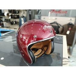 Two Tone Retro Open Face Helmet, Red