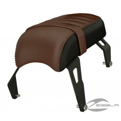 Genuine Leather Passenger Seat - Brown By Indian Scout Bobber