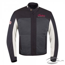 Men's Mesh Drifter Riding Jacket with Removable Lining, Black