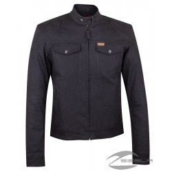 Men's Denim Atlanta Riding Jacket, Black