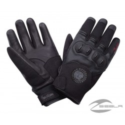 Men's Solo Riding Gloves with Hard Knuckles, Black