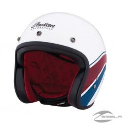 White Stripe open face helmet ECE