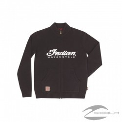 Men's INDIAN Logo Quarter Zip Knit