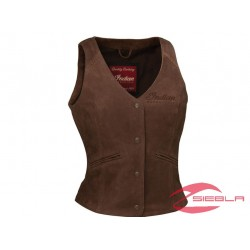 WOMEN'S INDIAN MOTORCYCLE VEST - BROWN LEATHER BY INDIAN MOTORCYCLE