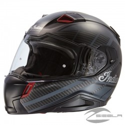Full Face Matte Sport Helmet, Black BY INDIAN