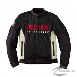 Men's Mesh Lightweight 2 Riding Jacket with Removable Liner, Black BY INDIAN MOTORCYCLE®
