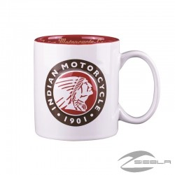 INDIAN MOTORCYCLE HEADDRESS LOGO MUG BLACK BY INDIAN MOTORCYCLE