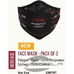 FACE MASK INDIAN MOTORCYCLE PACK 3 U.