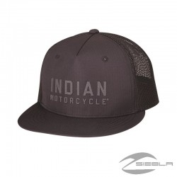FLATBILL BLOCK LOGO HAT-GRAY BY INDIAN MOTORCYCLES®