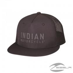 2860747 GORRA FLATBILL BLOCK LOGO, NEGRA BY INDIAN MOTORCYCLES®