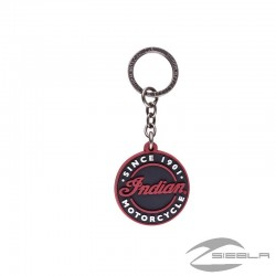 Circle Icon Rubber Keyring