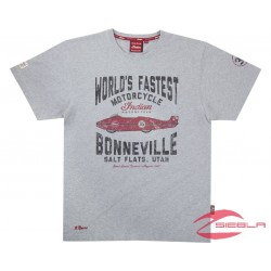 MEN'S MUNRO WORLD'S FASTEST TEE- GREY BY INDIAN MOTORCYCLE