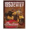 PLACA DE 1953 DE LA ROADMASTER CHIEF DE INDIAN MOTORCYCLE®