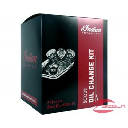 SCOUT OIL CHANGE KIT 15W-60 - 4.0 QT BY INDIAN MOTORCYCLE®
